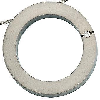 Pendant titanium 0, 03ct. Matte titanium diamond pendants diamond pendant