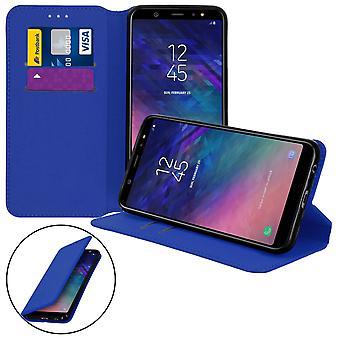 Caso Slim, edición clásico soporte caja con ranura para tarjeta Galaxy A6 Plus - azul marino