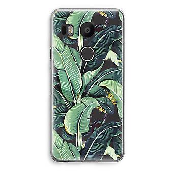 LG Nexus 5X Transparent Case - Banana leaves