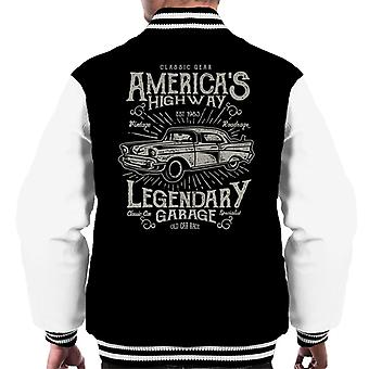 Americas Highway legendarische Garage Retro Logo mannen Varsity Jacket