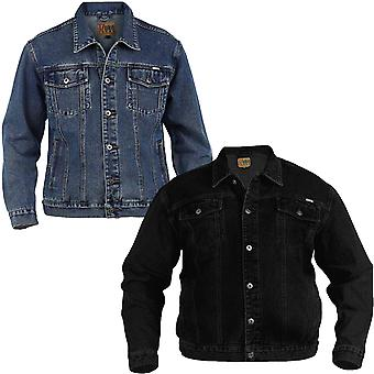 Duke D555 London Western Style Trucker Big Tall Plus King Size Denim Jacket