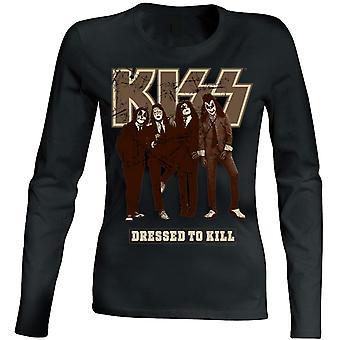 Kiss-Dressed to Kill women longsleeve t-shirt