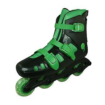 Skeelers Kids Roller Blades / In-Line Skates - Black and Green