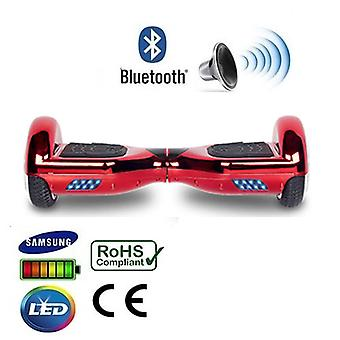 """6,5 """"punainen Chrome Bluetooth Segway Hoverboard"""