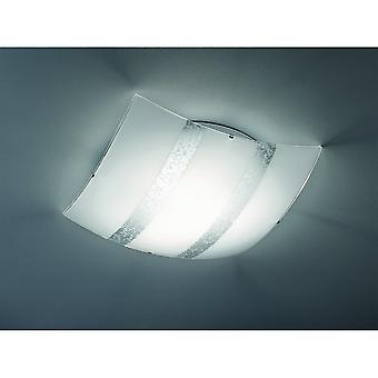 Trio Beleuchtung Nikosia Modern Silber Glas Deckenleuchte