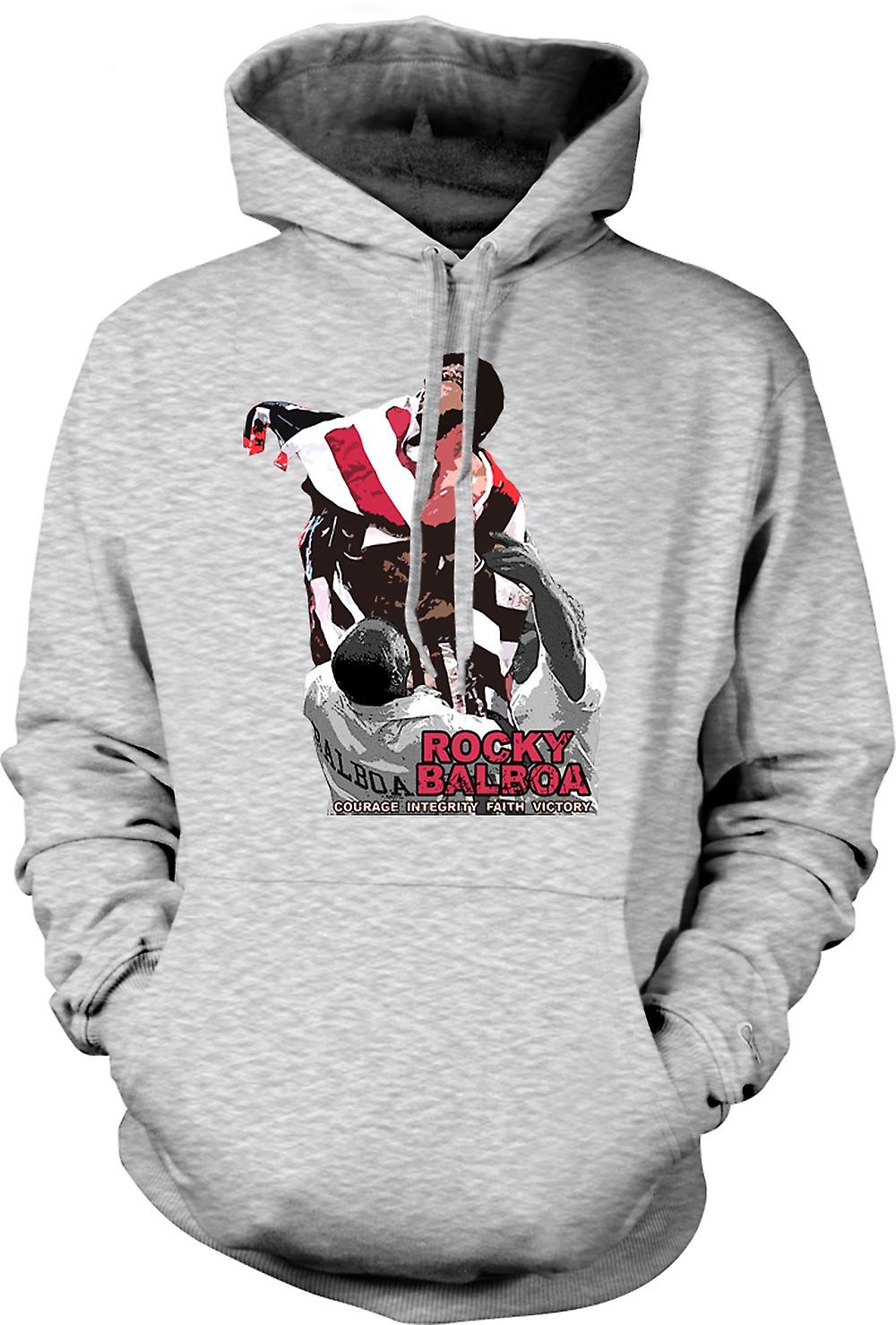 Mens Hoodie - Rocky Balboa - Courage - Boxing Movie