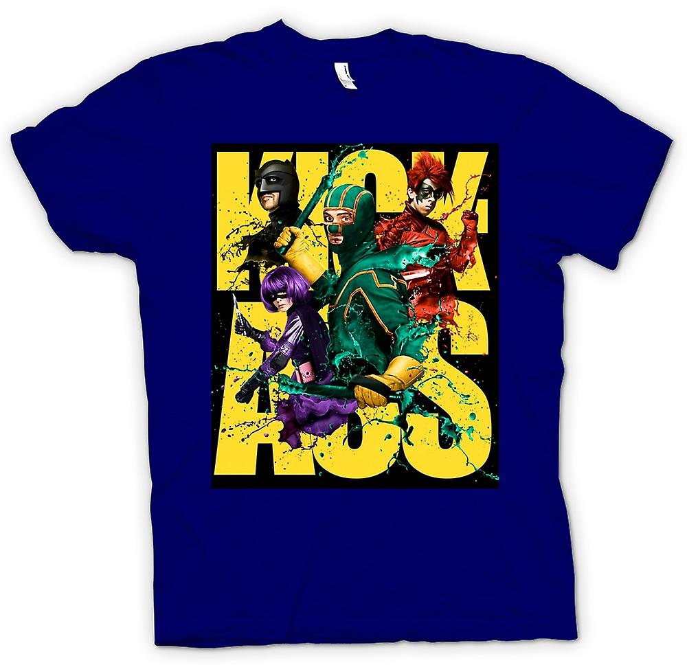 Mens T-shirt-Kick Ass Super Hero - B-Movie - Poster