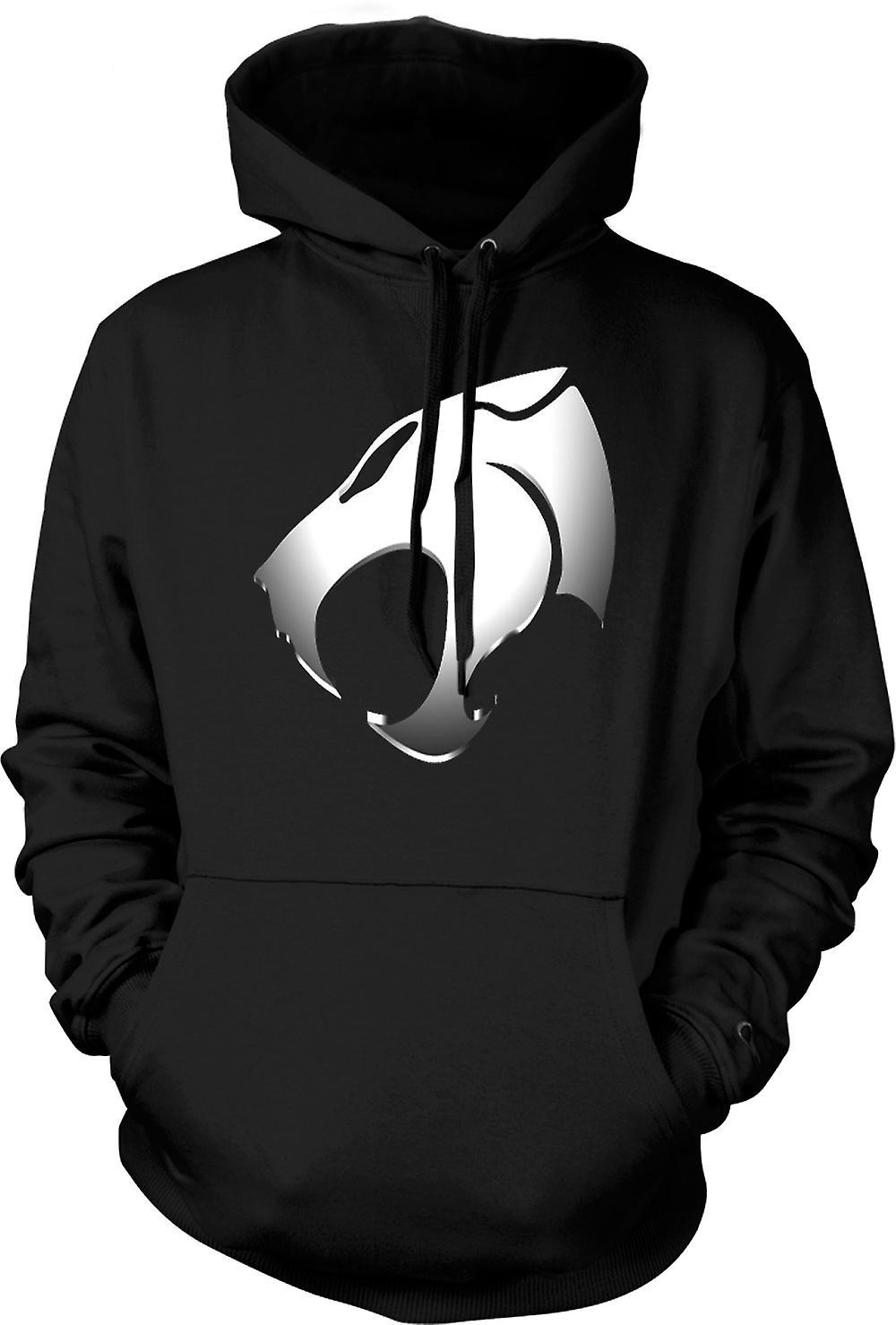 Mens Hoodie - Thundercats - Logo métallique
