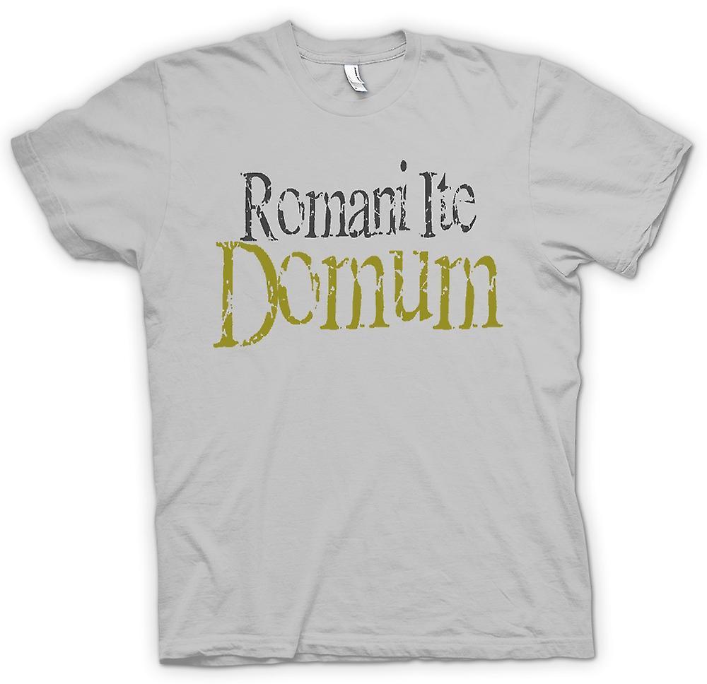 Heren T-shirt - Romani Ite Domum - Funny