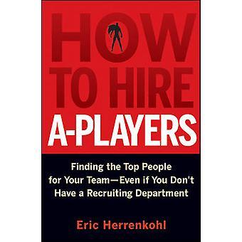 Hvordan man kan ansætte A-spillere - at finde de bedste folk til dit Team - selvom