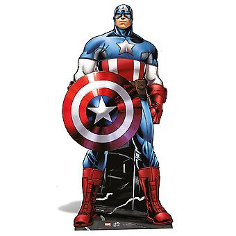 Captain America grandeur nature en carton Découpe / Standee / Standup - Marvel The Avengers Super Hero