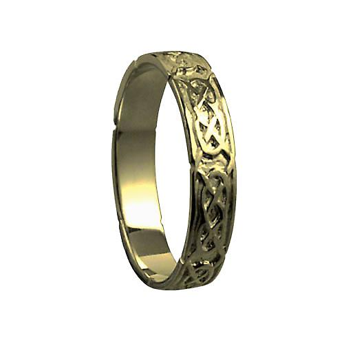 9ct Gold 4mm gents Celtic Wedding ring