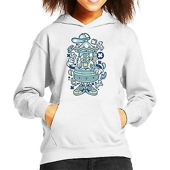 Karussell Cartoon Charakter Kind Sweatshirt mit Kapuze