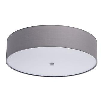 Glasberg - LED Flush Fitting With Grey Shade And White Diffuser 453011401