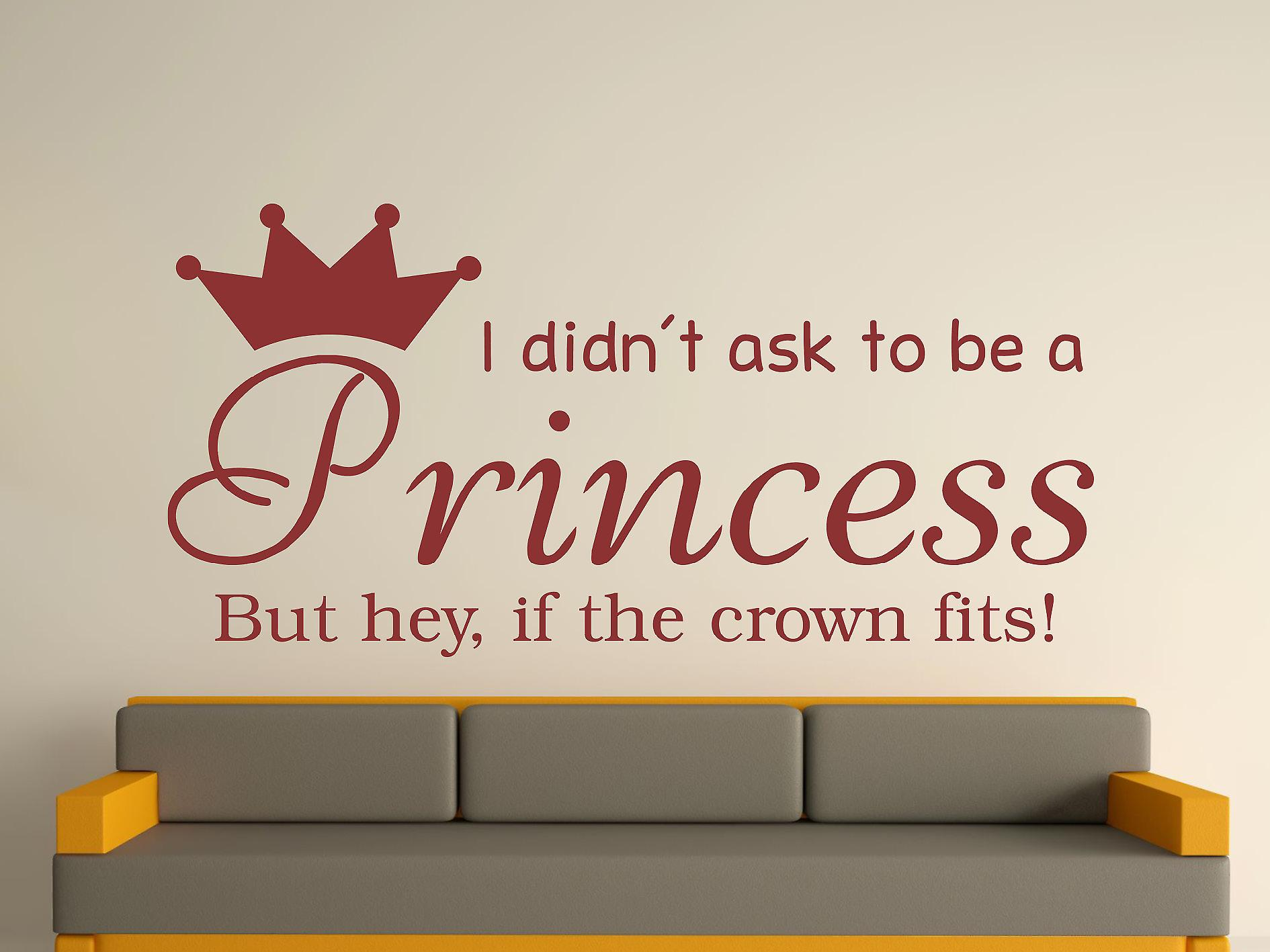 Being A Princess v2 Wall Art Sticker - Burgundy