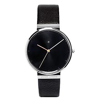 Jacob Jensen Analog quartz men's watch with leather Dimension Series Item No.: 842