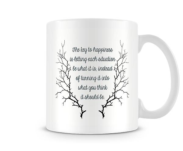 Key To Happiness Let It Be What It Is Mug