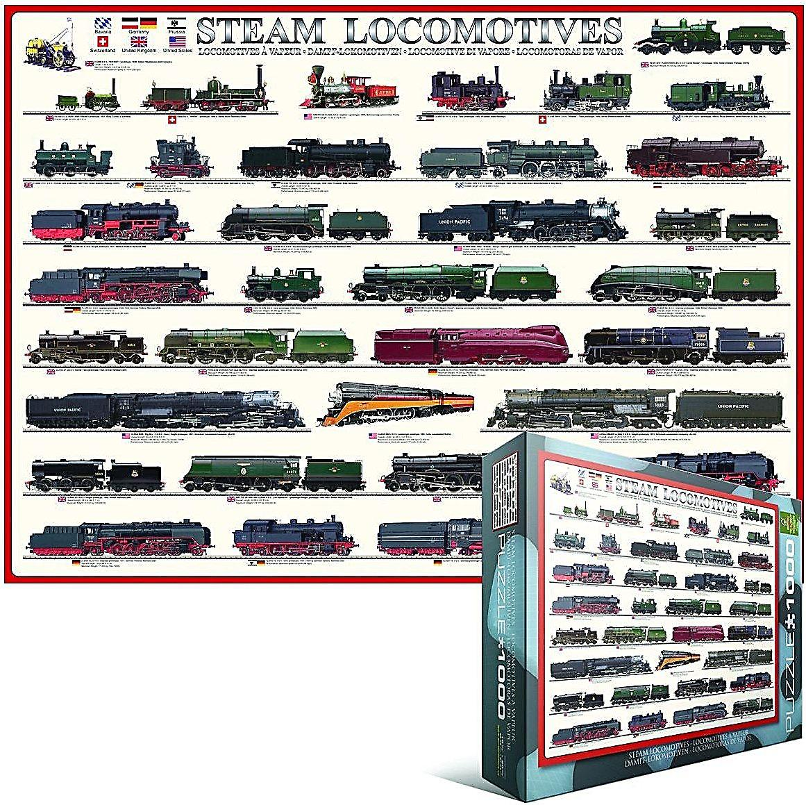 Steam Locomotives 1000 piece jigsaw puzzle   (pz)