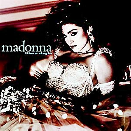 Madonna Like A Virgin steel fridge magnet from the USA