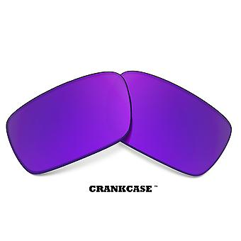 CRANKCASE Replacement Lenses Polarized Purple & Green by SEEK fits OAKLEY
