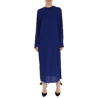 Givenchy blåt silke kjole