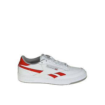Reebok White/red Leather Sneakers
