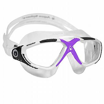 Aqua Sphere Vista Ladies Swim Goggle White/Lavender - Clear Lens