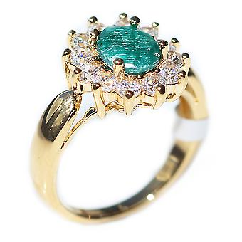 Precious Emerald Ring. Gold Filled Stamped GL