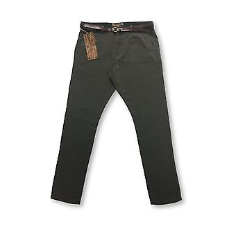 Pearly King arched leg chinos in brown/grey