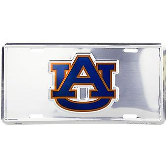 Auburn Tigers NCAA Silver Mirror License Plate