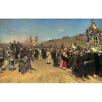 Religious Procession in kursk province,Ilya Repin,60x38cm
