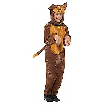 Brown dog costume kids unisex Carnival animal costume jumpsuit dog costume