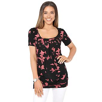 KRISP  Womens Ladies Soft Jersey Baggy Printed Long Top T Shirt Tunic Blouse Plus 8-20