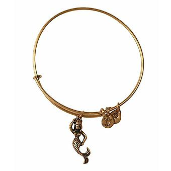 Alex en Ani Mermaid Gold Bangle A11EB110RG