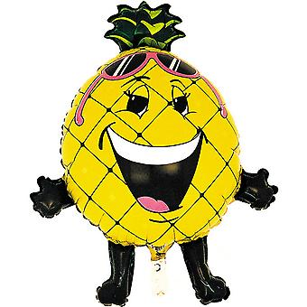 Oaktree 32 Inch Pineapple Shaped Foil Party Balloon