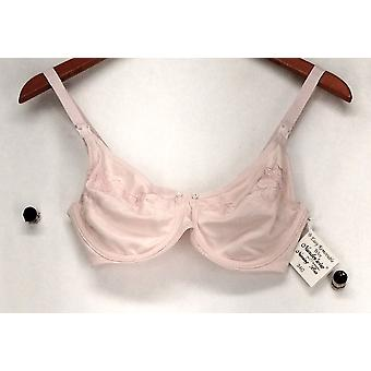 Q-T Intimates Bra 34C Nunder'Wire Nursing Bra Light Pink Womens