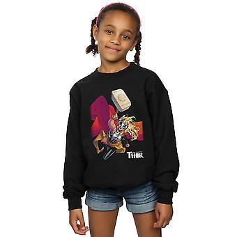 Marvel Girls The Mighty Thor Mjolnir Sweatshirt