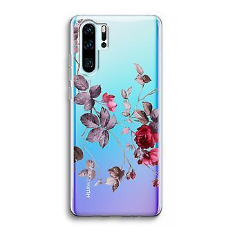 Huawei p30 pro caso transparente (Soft)-flores bonitas