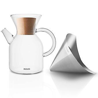 Eva Solo Pour over Kaffeezubereiter 1 Liter Glaskanne mit Edelstahlkaffeefilter