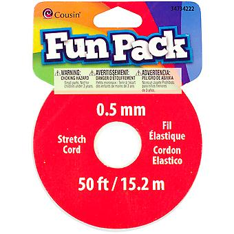 Fun Pack Stretch Cord Spools ? Pkg Clear 34734222