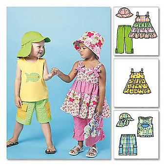 Toddlers' Children's Tops, Shorts, Pants And Hats  Cf 4  5  6 Pattern M6495  Cf0