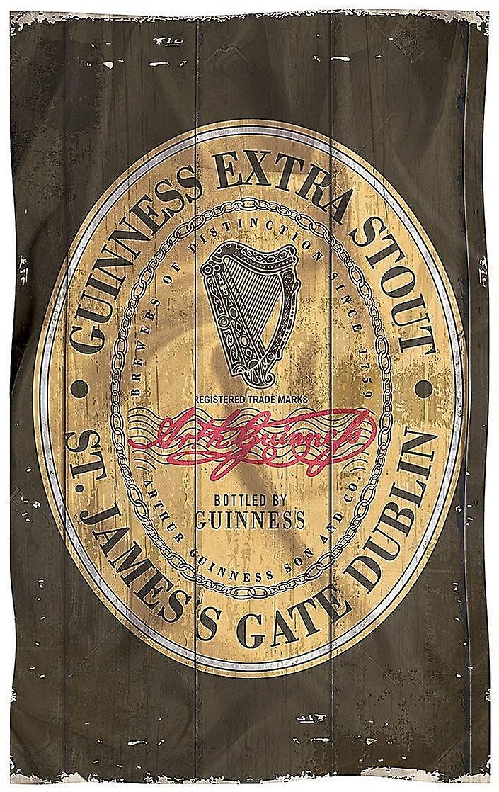 Guinness Weathered Antiqued Label Cotton Tea Towel  700mm x 450mm  (sg)