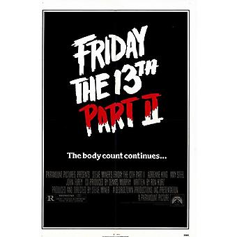 Friday the 13Th Part 2 Movie Poster (11 x 17)
