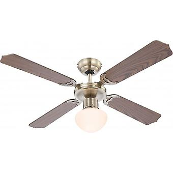 "Globo Ceiling Fan Champion antique brass 106.6 cm / 42"" with pull cord"