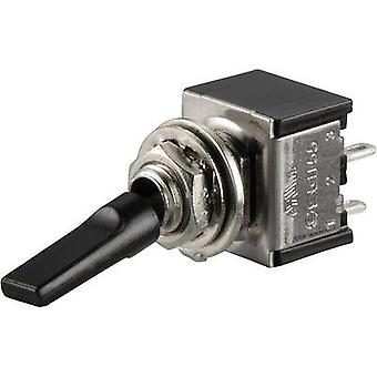 Toggle switch 250 Vac 3 A 2 x Off/On SCI TA201G1 BlacK Lever latch 1 pc(s)