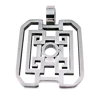 Stainless Steel Open Work Geometric Pattern Pendant