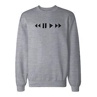 Media tastene Sweatshirt tilbake til skolen Unisex svette skjorte