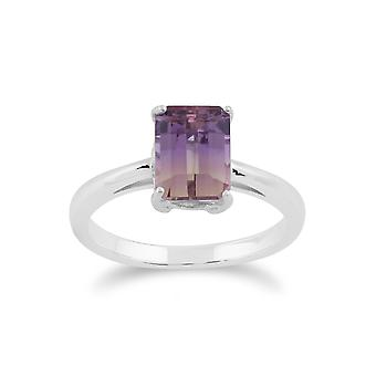 Gemondo Sterling Silver Ametrine oktagon Ring