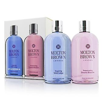 Molton Brown Body Wash Set: Inspiring Wild Indigo 300ml/10oz + Intoxicating Davana Blossom 300ml/10oz 2pcs