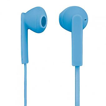 H auriculares Mood azul In-Ear Mic cable plano